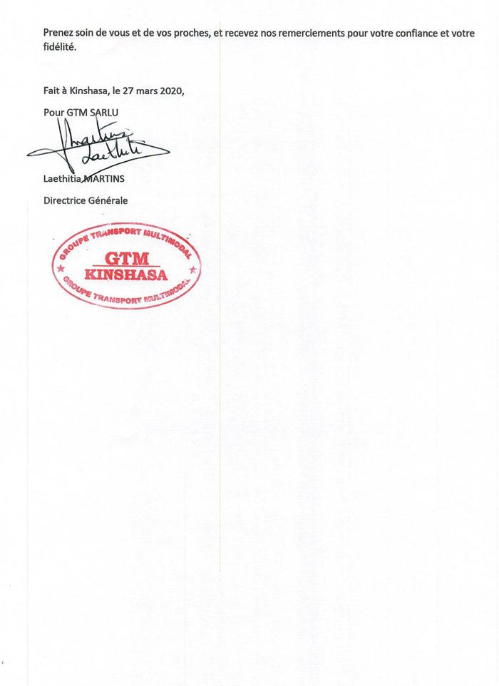 GROUPE TRANSPORT MULTIMODAL (G.T.M.) – Kinshasa – RD Congo - MonCongo