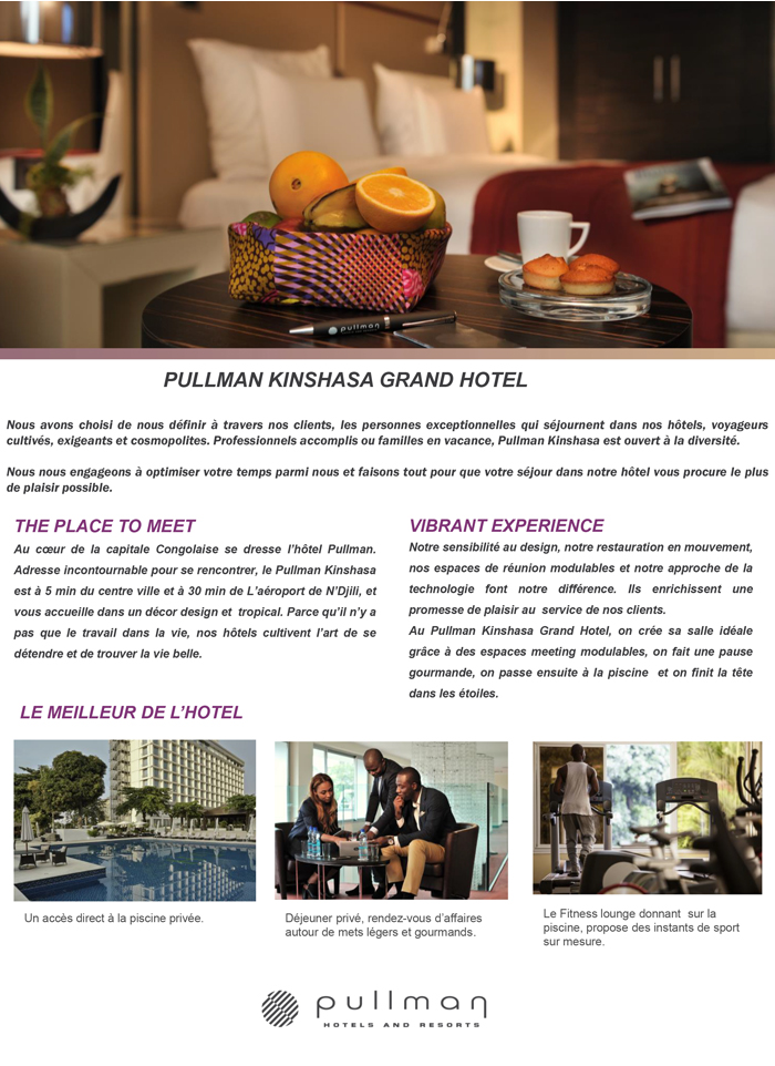 Hotels à Kinshasa Pullman Kinshasa MonCongo